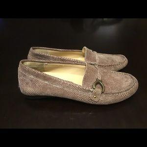 Vaneli Women's Taupe E Print Loafers 7M